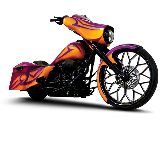 Spyder Custom Motorcycle Wheel