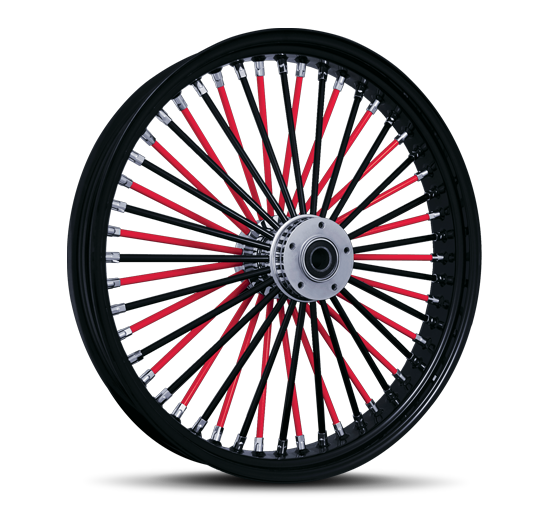 Red and Black Spokes with Black Outer
