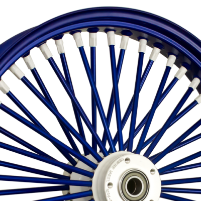 Blue Outer and Spokes with White Hub and Nipples