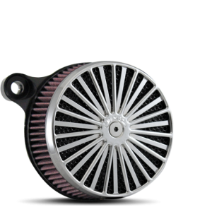 Billet Daddy Air Cleaner in Polished and Black