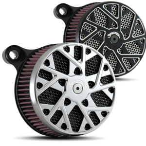 Labyrinth Air Cleaner in Polished and Black