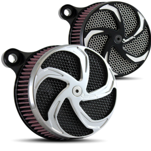 Shredder Air Cleaner in Polished and Black