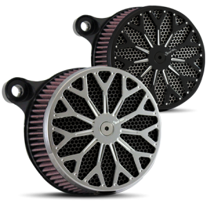 Spyder Air Cleaner in Polished and Black