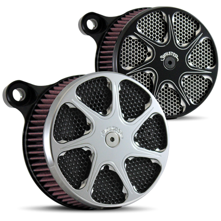 Dagger Air Cleaner in Polished and Black
