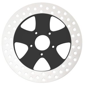 Megastar Motorcycle Rotors in Black